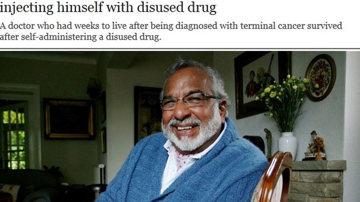 médico, cáncer terminal, medicamento, antiguo, en desuso, sobrevive