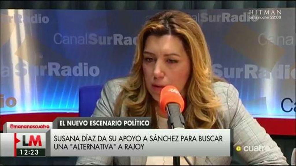 Susana Díaz afirma que el secretario general del PSOE tiene todo su apoyo y confianza