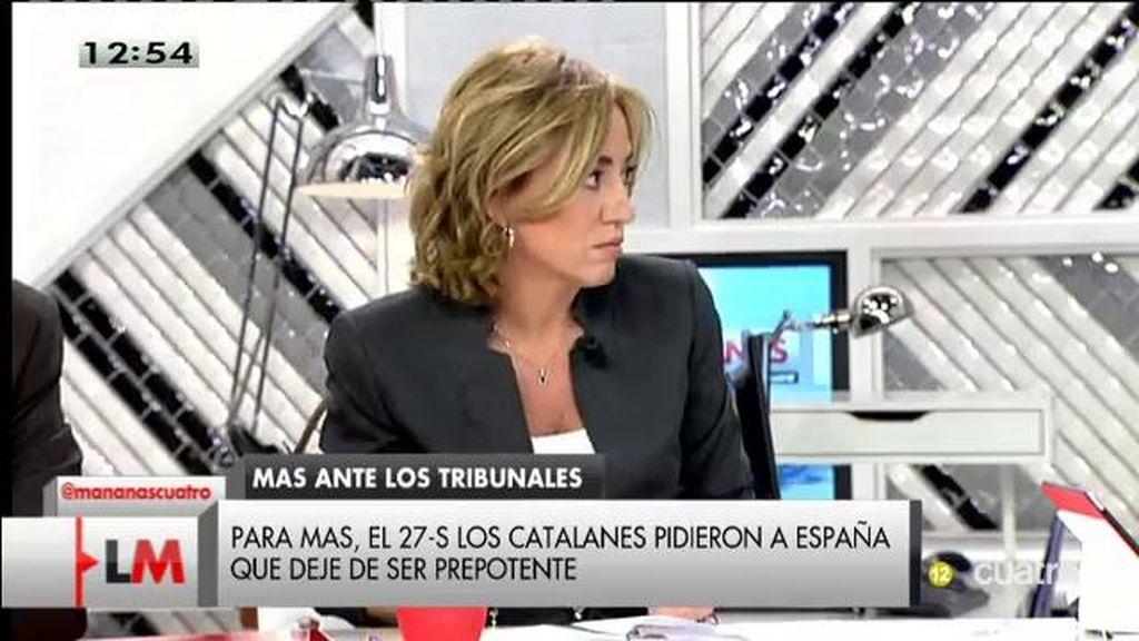 """C. Chacón: """"A Mas le echa su propio órdago"""""""