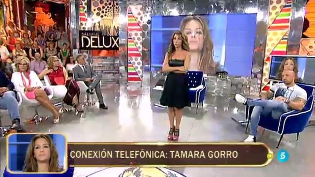 ¡Así ha sido la llamada en directo de Tamara Gorro a 'Sálvame Deluxe'!