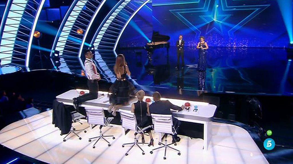 """Edurne, a Cristina Ramos: """"Se supera en cada actuación"""""""