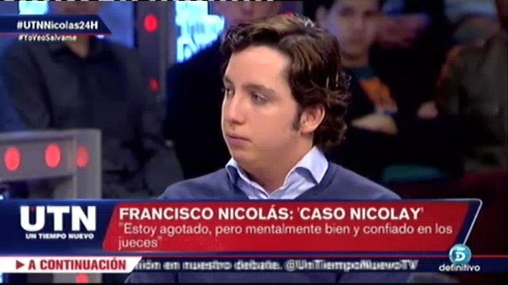 """Francisco Nicolás: """"Si creo un partido político, mucha gente me votará"""""""