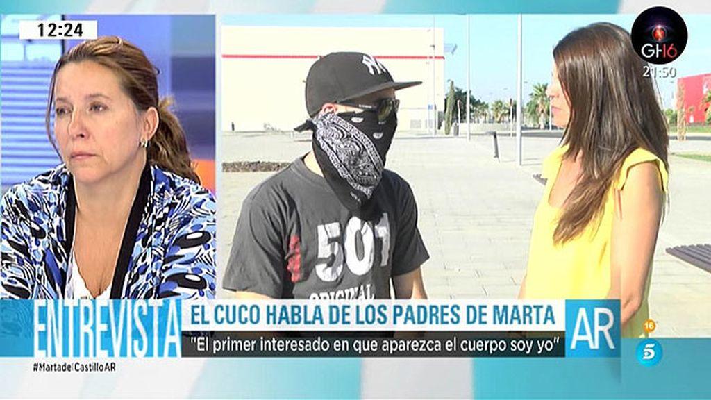 """El 'Cuco', a los padres de Marta: """"Seguid luchando hasta que la niña descanse en paz"""""""