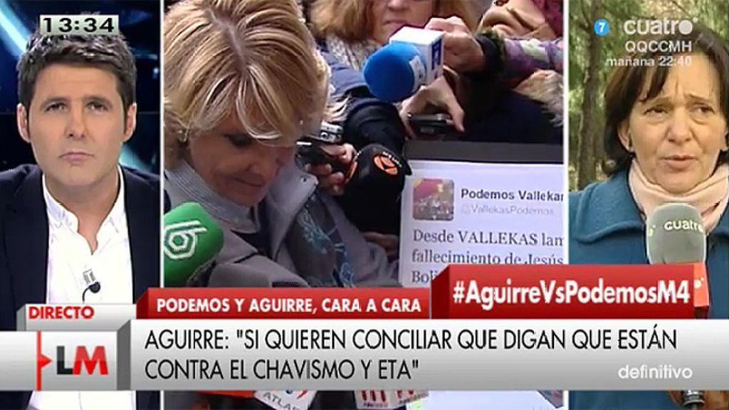 """Bescansa, de Aguirre: """"Esto es lo que pasa cuando los políticos no quieren hablar de política sino desautorizar al adversario"""""""