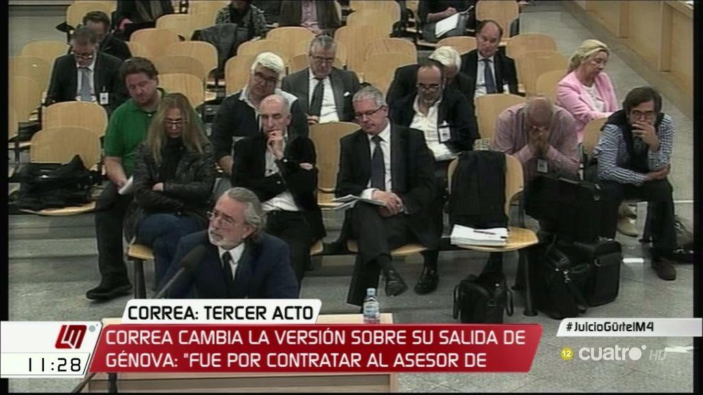 """Correa cambia la versión de su salida del PP: """"Fue por contratar al asesor de Aznar"""""""