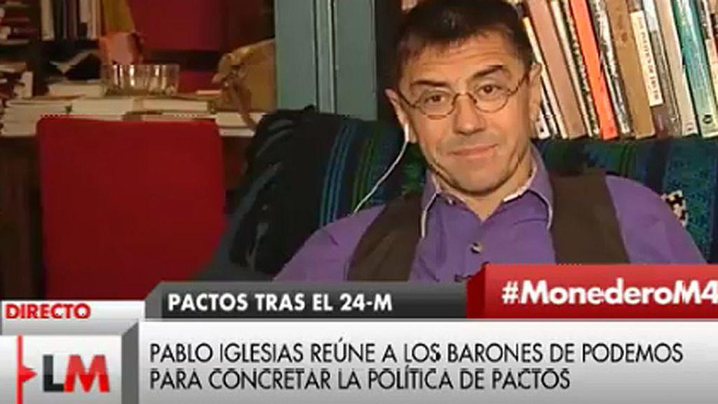 """Juan Carlos Monedero: """"Nadie entendería que no se hiciera todo lo posible para que el PP saliera de los gobiernos"""""""