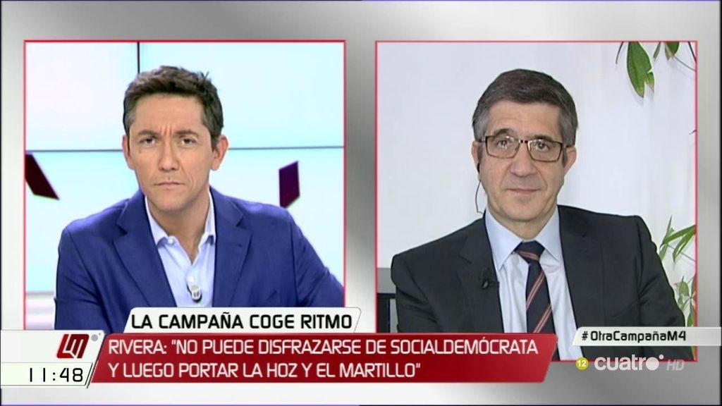 """Patxi López, sobre Pablo Iglesias: """"Creo que lo que no tiene es ningún rigor"""""""