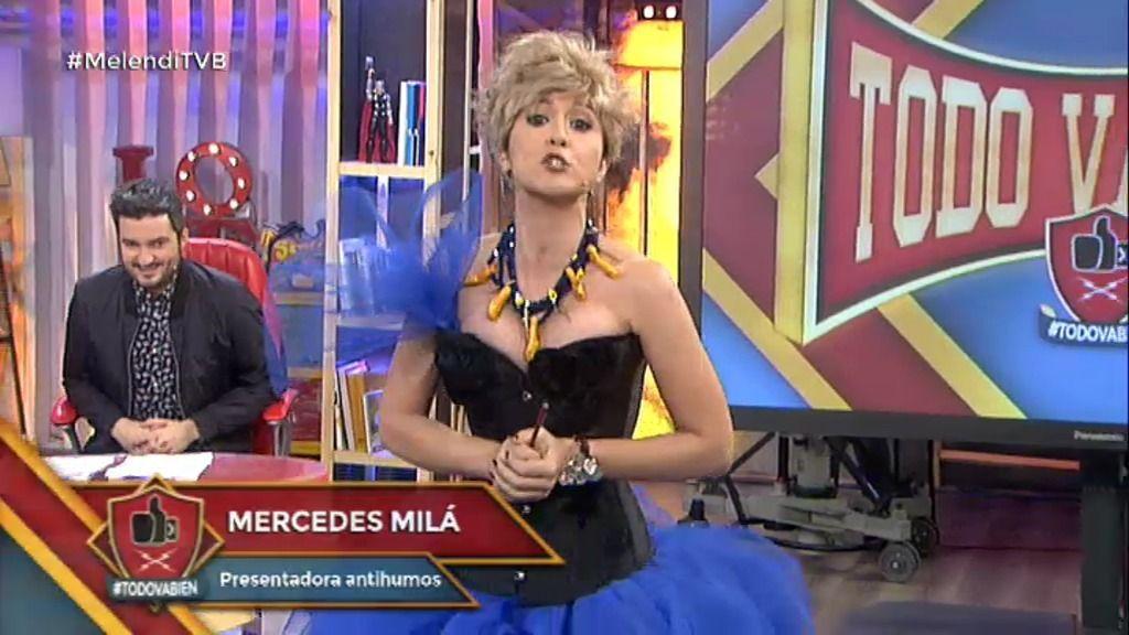 María Lama se convierte en Mercedes Milá, la presentadora más incombustible