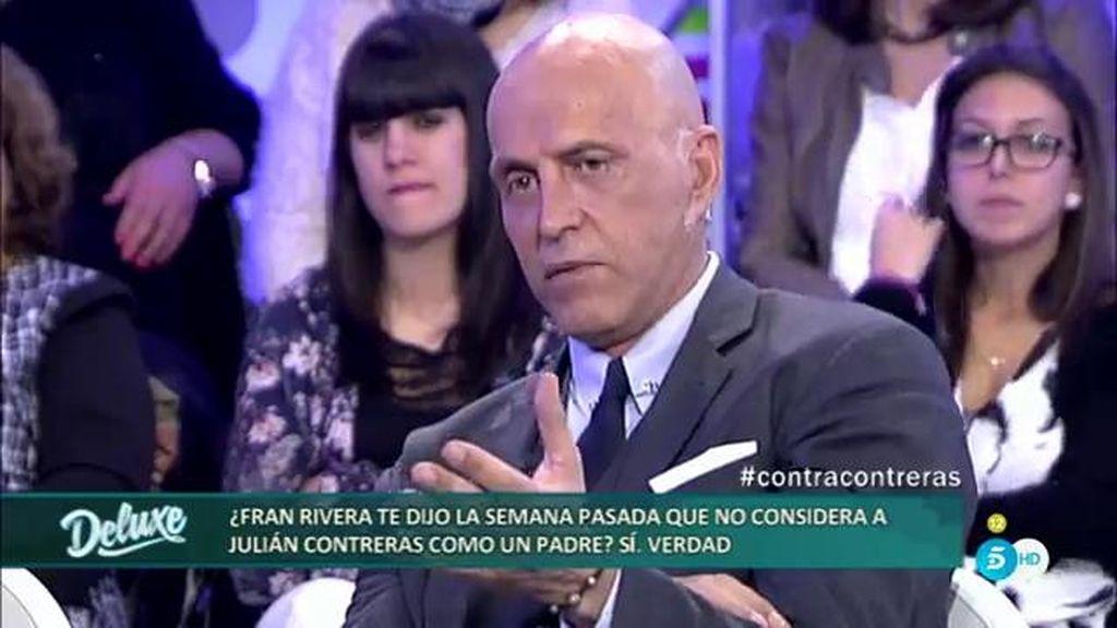 Fran Rivera no considera a Julián Contreras como un padre, según Kiko Matamoros