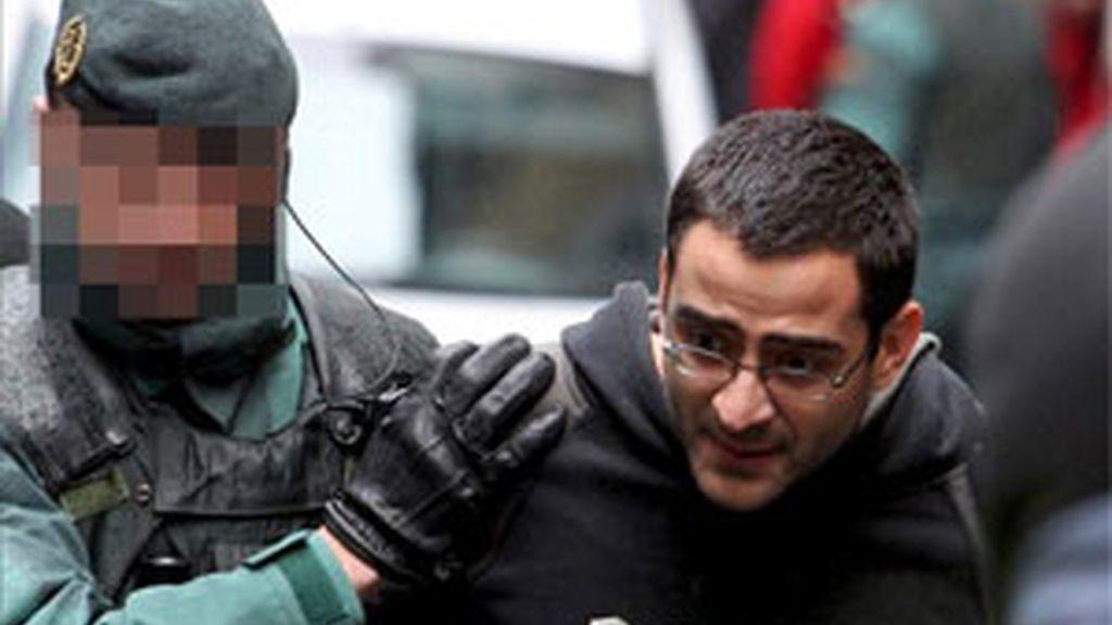 Iñigo Zapirain en el momento de su detención. Vídeo: Informativos Telecinco