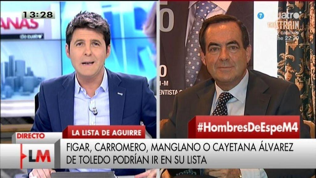 """José Bono: """"Me llama la atención que la policía no se les detuviera en el acto"""""""
