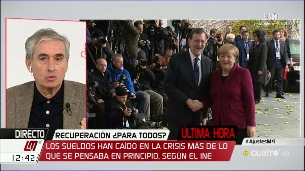 "Jáuregui: ""Como no se ha podido devaluar la moneda, se han devaluado los salarios"""
