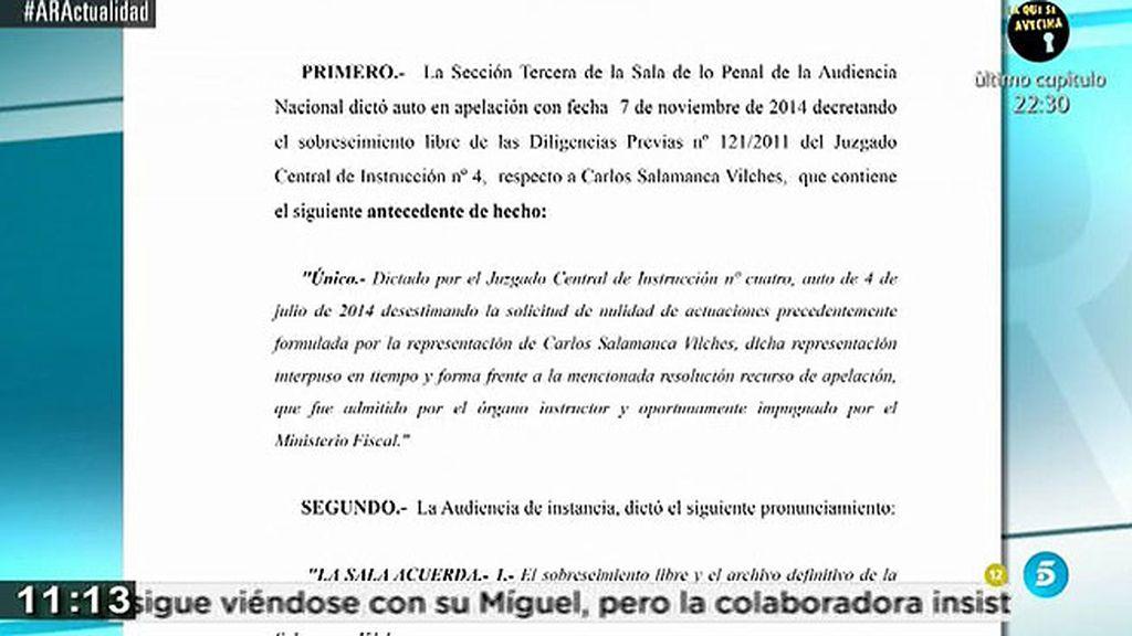 El Supremo no admite el recurso de la fiscalía contra el Comisario Salamanca