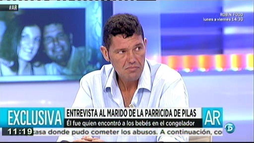 """Francisco, marido de la parricida de Pilas: """"No puedo estar tranquilo"""""""