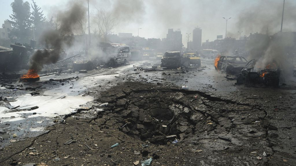 Masacre en un atentado con coche bomba en Damasco