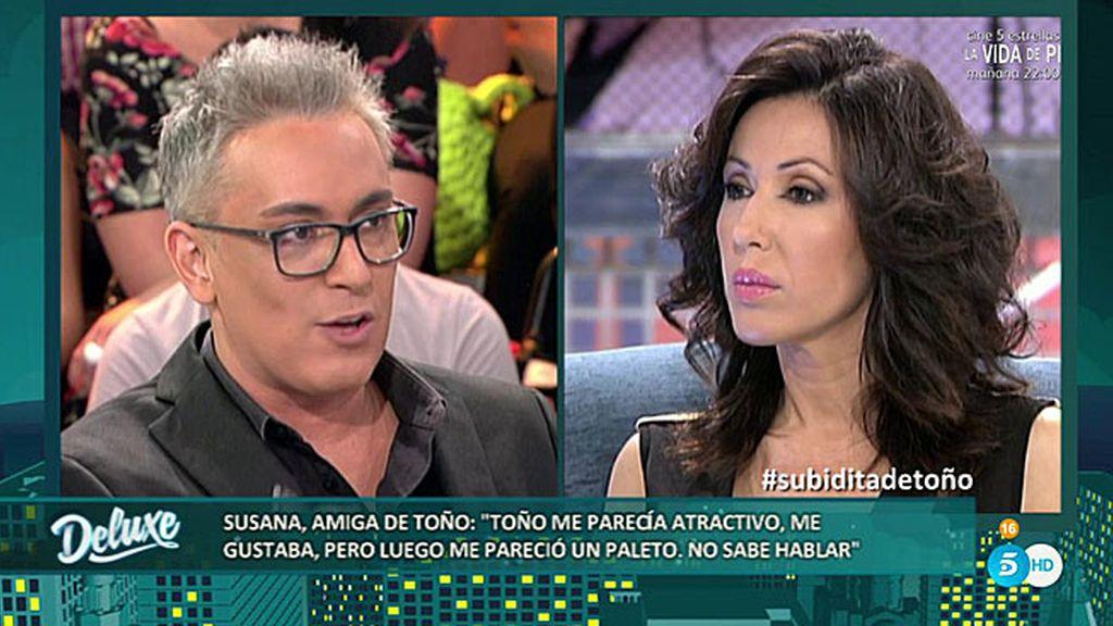 """Susana: """"Toño es un garrulo y un paleto, tiene muchas faltas de ortografía"""""""