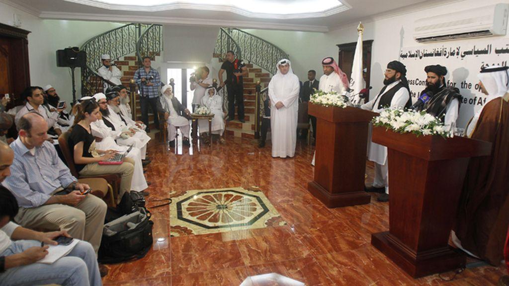 Los talibán abren una oficina diplomática en Doha, Qatar