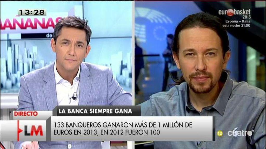 """Pablo Iglesias: """"Habrá recuperación para el señor Rajoy y algunos amigos suyos"""""""