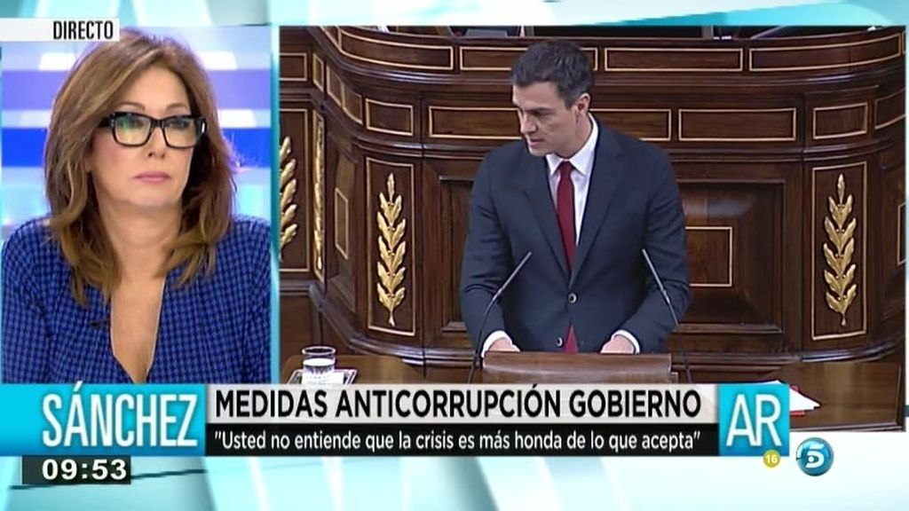 """Pedro Sánchez, a Rajoy: """"No es el mejor día para usted para hablar de corrupción"""""""