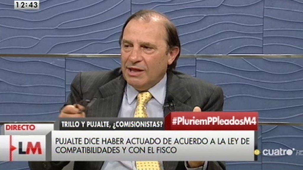 """Vicente Martínez - Pujalte: """"Nada de lo que yo hago es éticamente incorrecto"""""""