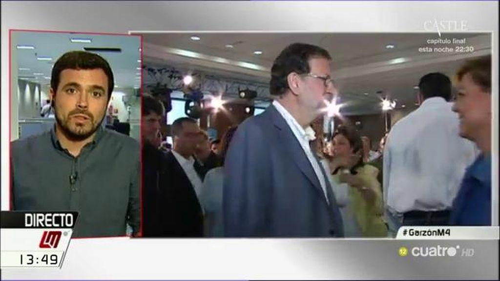 """A. Garzón: """"Es terrorífico que un partido que ha visto tantos casos de corrupción siga siendo el  que encabece las encuestas"""""""