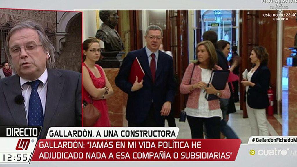 """Carmona, del 'fichaje' de Gallardón: """"No es ni ético ni estético"""""""