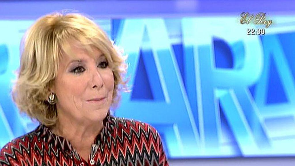 """Aguirre, sobre la alcaldía de Madrid: """"Soy reservista pero si hay que ir se va"""""""