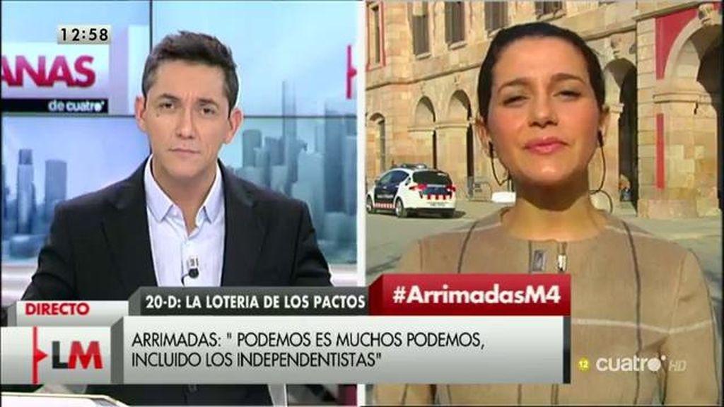 La entrevista a Inés Arrimadas, a la carta