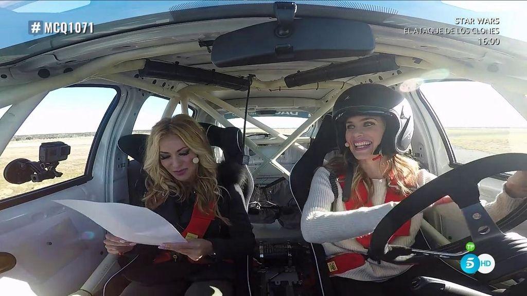 El test más rápido de Vanesa Romero: al volante y pisando a fondo el acelerador