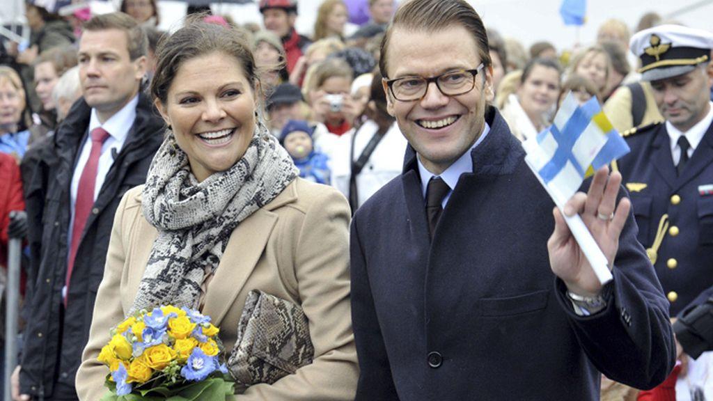 Los príncipes Victoria y Daniel de Suecia