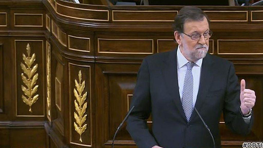 """Mariano Rajoy, a Sánchez: """"Sé que trabajan mucho pero les cunde poco"""""""