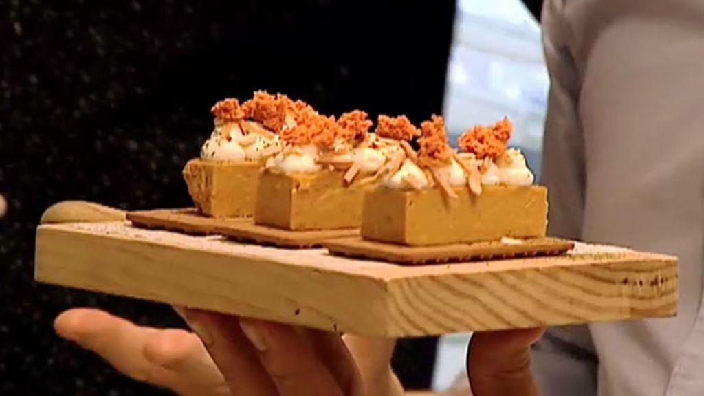 La receta de Perretxico: Turrón de foie con yogur colado