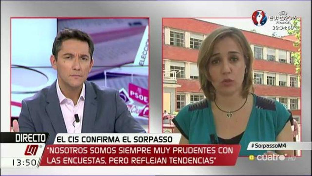 """T. Sánchez: """"Lo que confirman las encuestas es que no estamos tan lejos de ganar al PP"""""""