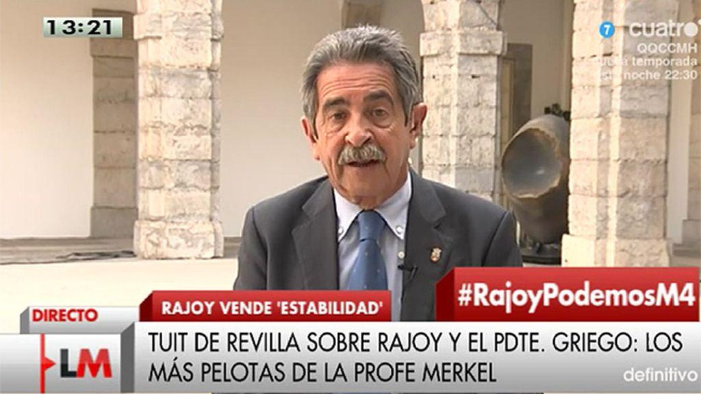 """Revilla, de Rajoy y Samaras: """"Los dos últimos de la clase se han juntado para profesar su amor a la profesora Merkel"""""""