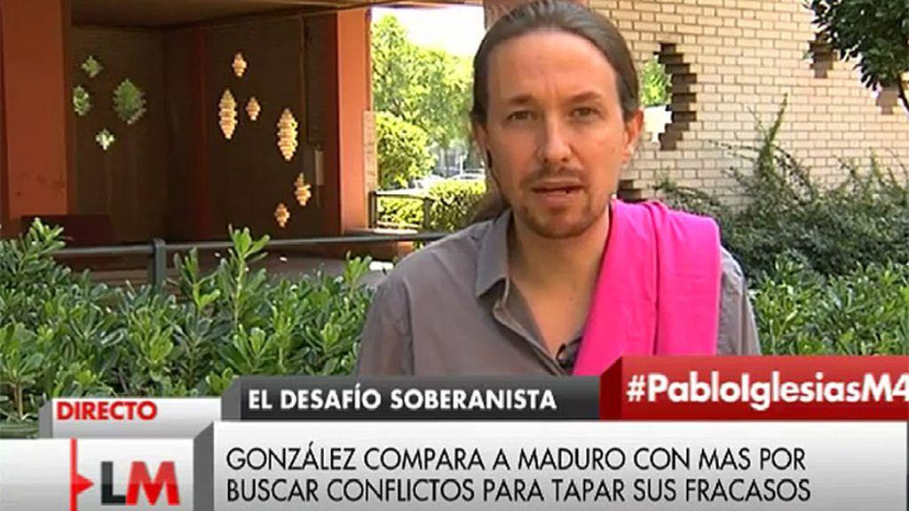 """Pablo Iglesias: """"De fracasos como gobernante Felipe González sabe bastante"""""""