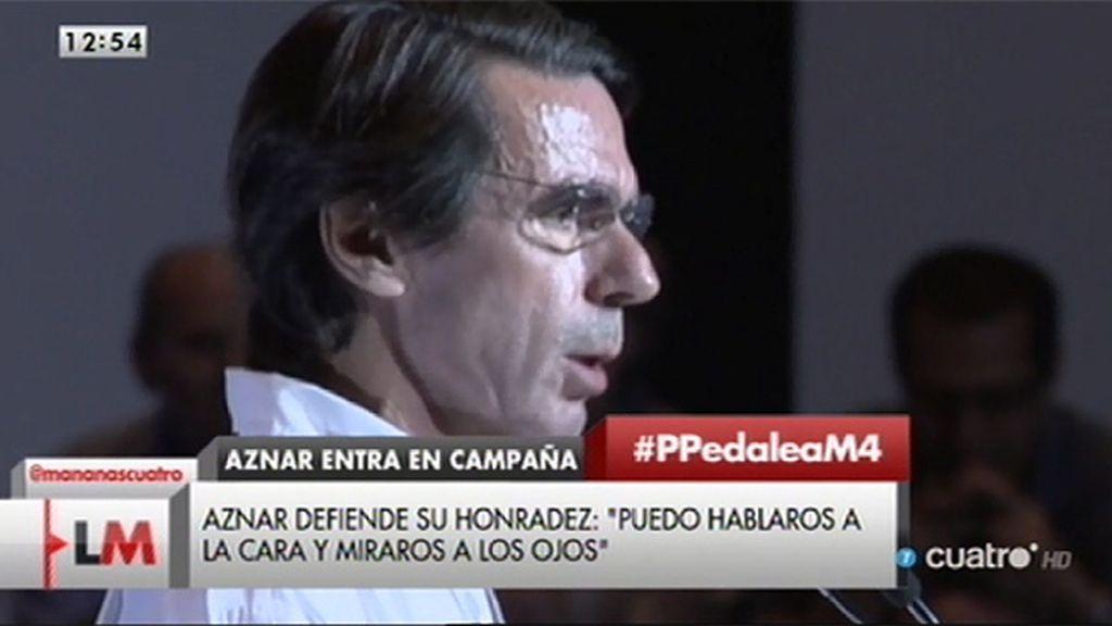 """Aznar, a los militantes de Aragón : """"Estoy aquí porque éste es mi sitio"""""""