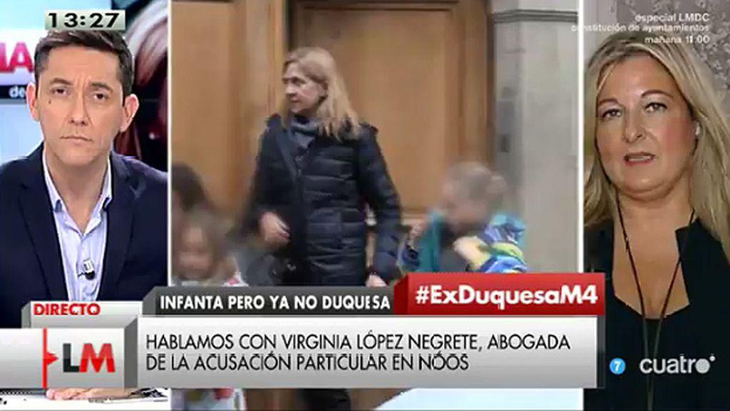 """López Negrete, de la Infanta Cristina: """"La acusación es nuestra pero no creo que seamos los responsables"""""""