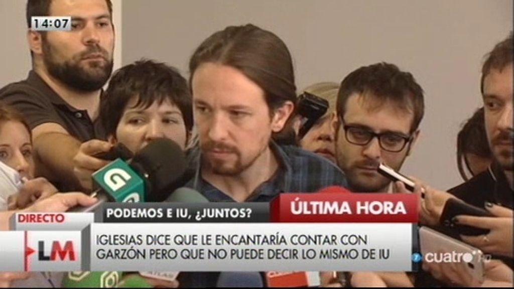 """Pablo Iglesias: """"Podemos no va a llegar a un acuerdo electoral con IU"""""""