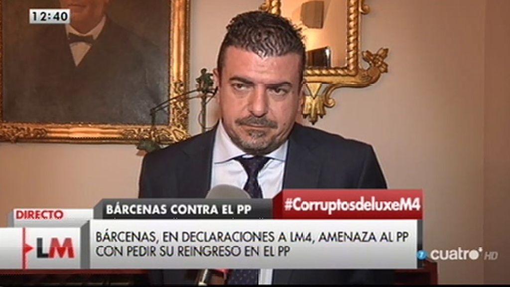 """Francisco Maroto, abogado de Luis Bárcenas: """"Él sigue fuerte"""""""