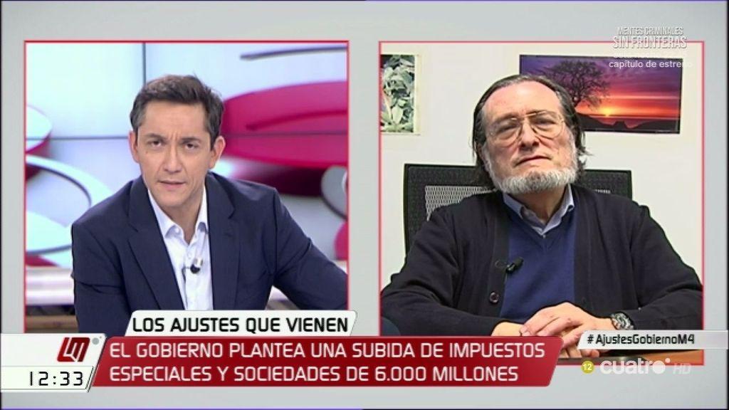 """El economista Santiago Niño asegura que la subida de impuestos """"busca la recaudación"""""""