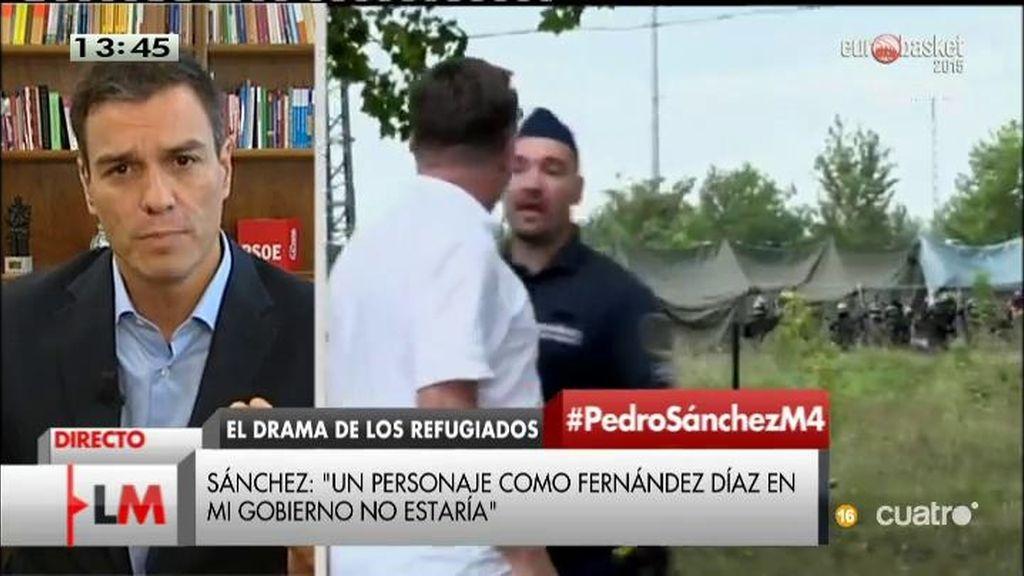 """Pedro Sánchez: """"La crisis de los refugiados no es una cuestión de seguridad, sino de solidaridad"""""""