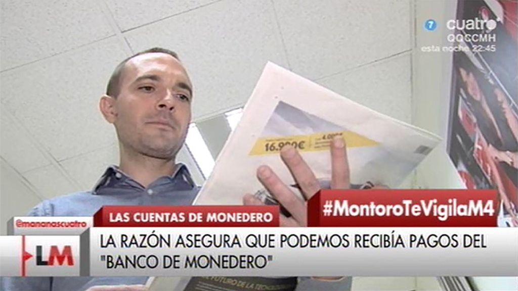 """Luis Alegre, de la portada de 'La Razón': """"Es una vergüenza para el periodismo español"""""""
