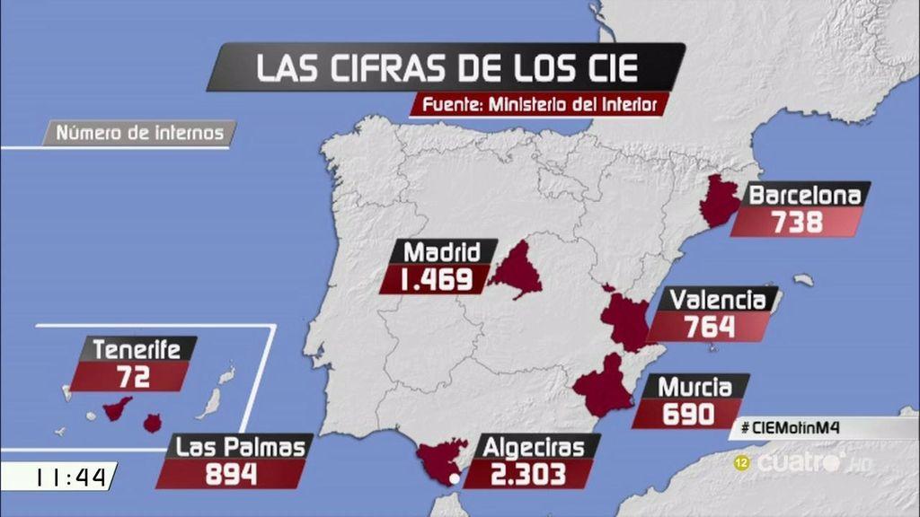 Los CIE: 7 centros de internamiento pro los que pasaron 6.930 internos en 2015