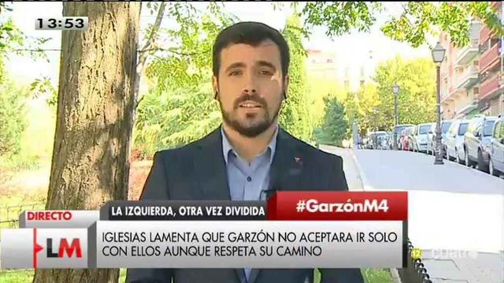 "Alberto Garzón: ""Podemos consideró que no había más margen para hablar"""