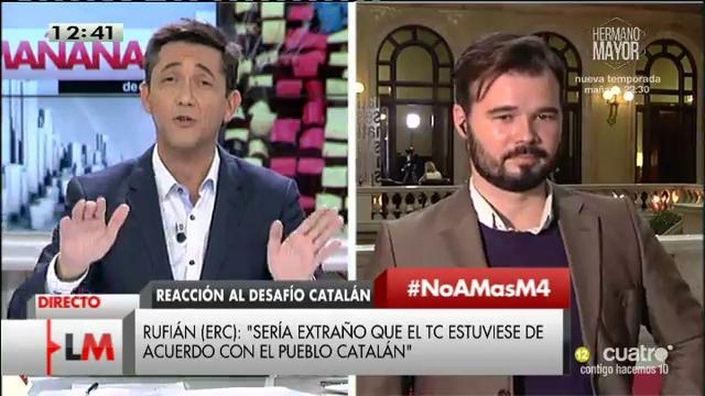 """Gabriel Rufián (ERC): """"El Tribunal Constitucional va en contra de las urnas"""""""
