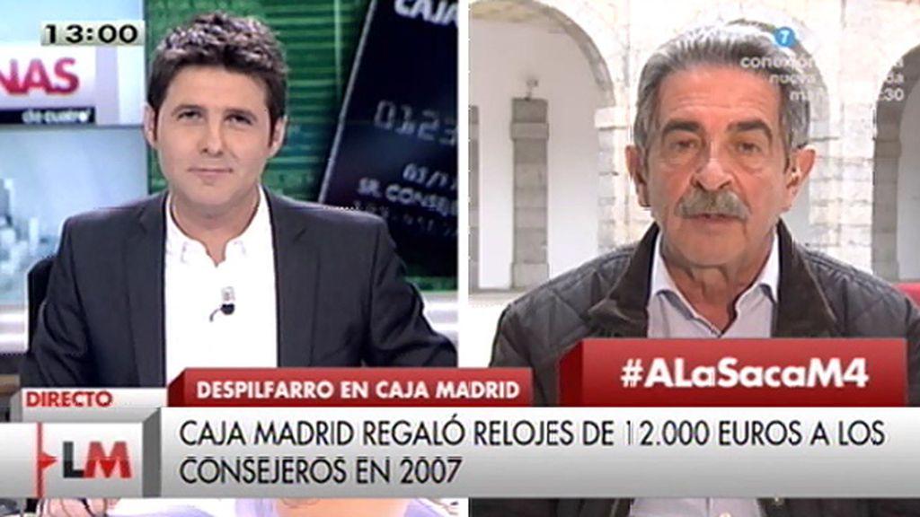 """Miguel Ángel Revilla, sobre las tarjetas 'black': """"Esta es una pandilla de golfos"""""""