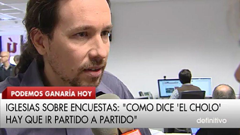 """Pablo Iglesias: """"Es un honor poder ser un instrumento en manos de una mayoría social que quiere un cambio"""""""