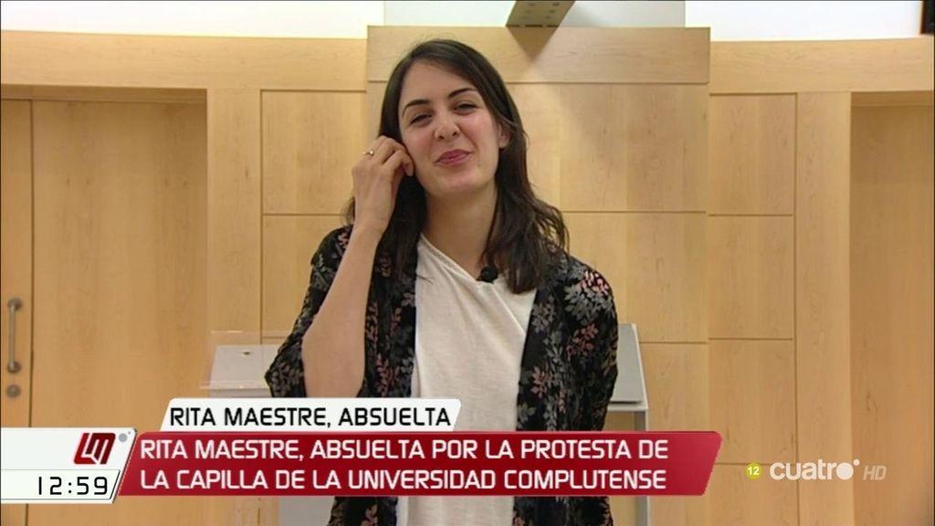 """Rita Maestre, absuelta por la Audiencia Nacional: """"Es un avance para la libertad de expresión en España"""""""