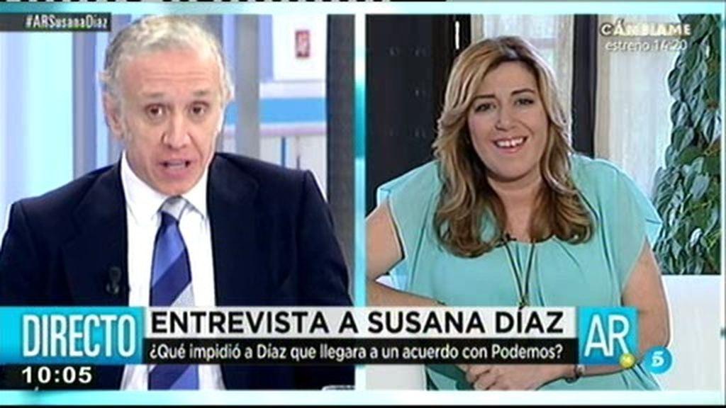 """Susana Díaz: """"Voy a evitar que se ponga en la calle a familias que no tengan otras alternativas"""""""