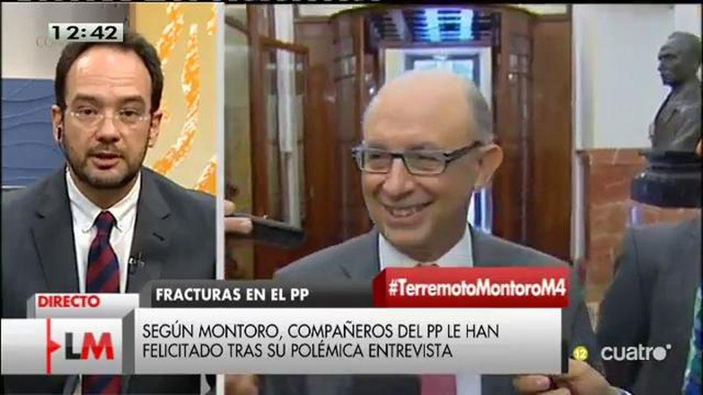 """Antonio Hernando: """"Por una vez, Montoro ha dicho la verdad"""""""